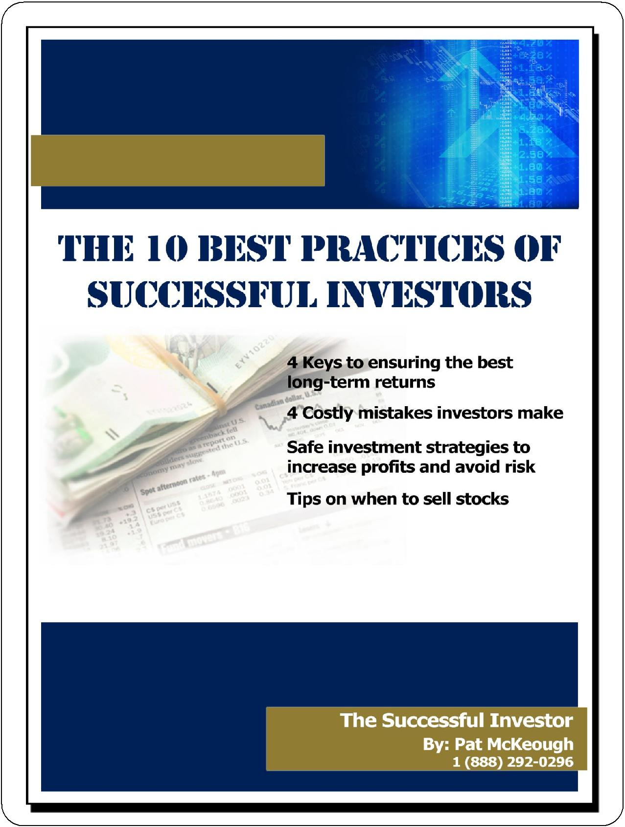 The 10 Best Practices of Successful Investors
