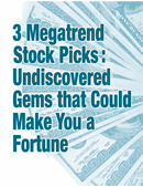 3 Megatrend Stock Picks for 2011: Undiscovered Gems that Could Make You a Fortune