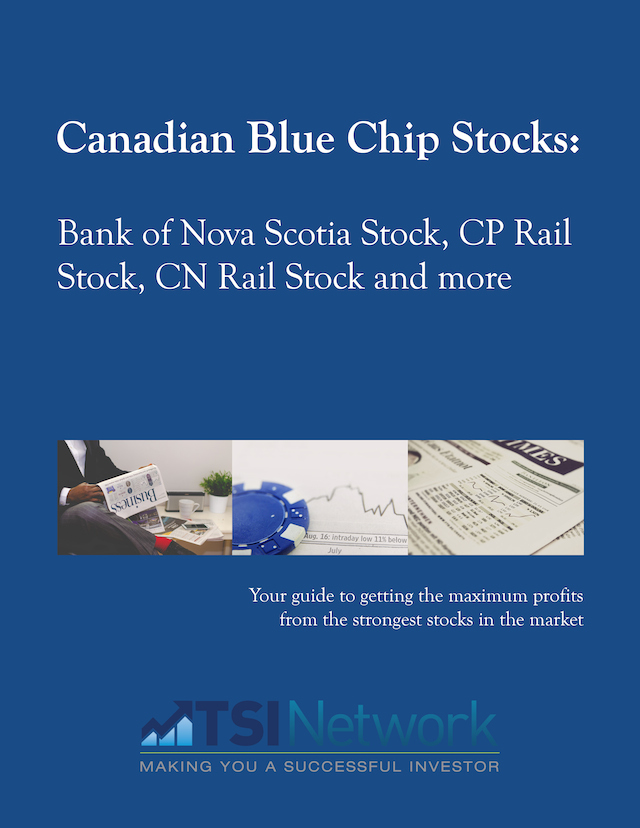 Canadian Blue Chip Stocks: Bank of Nova Scotia Stock, CP Rail Stock, CN Rail Stock and More