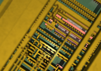 tech stocks chip detail stock image
